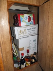 "Our wine ""closet"" after visiting Luc"