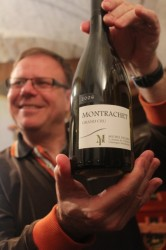 Raoul with his most favorite wine, a 2006 Montrachet Grand Cru