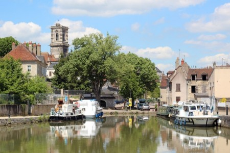 A (rare) sunny day in Clamecy