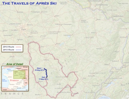 France 2013 Week1 Route