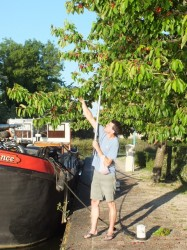 Me with the boat hook