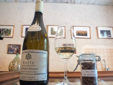 A white wine from Rully, a tasty but unknown area near the Canal du Centre in the Côte Chalonaise