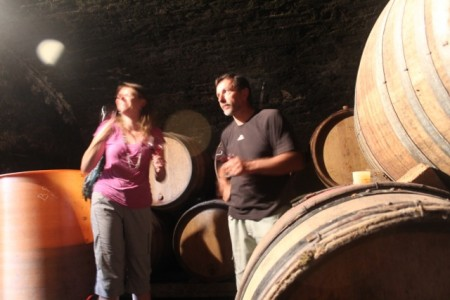 Tasting Thierry Duréault's Premier Cru right from the barrel