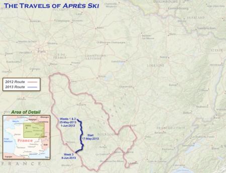 France 2013 - Week 3 Route
