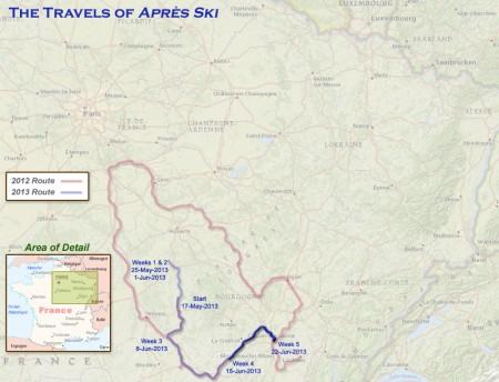 France 2013 - Week5 Route