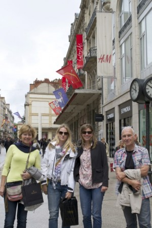 In Dijon with Marianne, Jen, Heather and Jean-Pierre