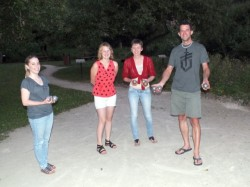 "Learning ""pétanque"" from the locals"
