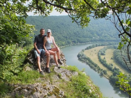 Our hike above the Doubs River