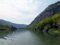 The Doubs River valley