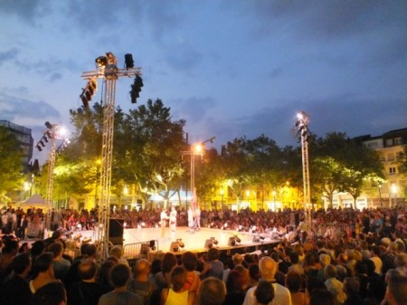 Acrobat performance in Mulhouse