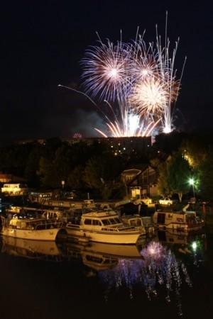 Fireworks in Montbéliard