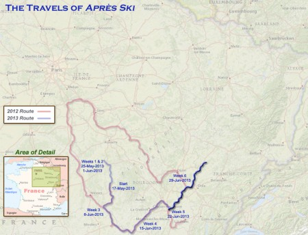 France 2013 - Week 6 Route