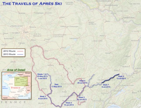 France 2013 - Week8 Route