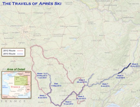 France 2013 - Week9 Route