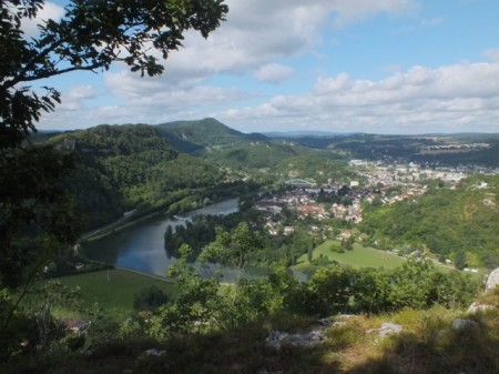 Our hike above Baume-les-Dames