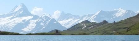 A classic Swiss Alps vista