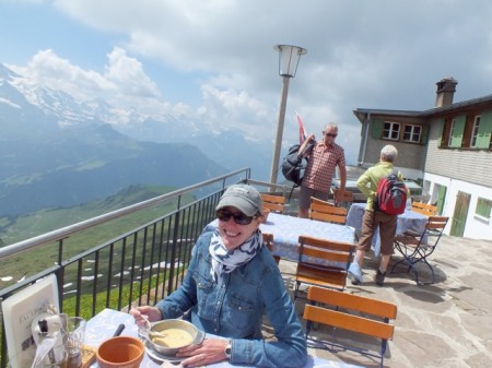 Lunch at the top of Faulhorn