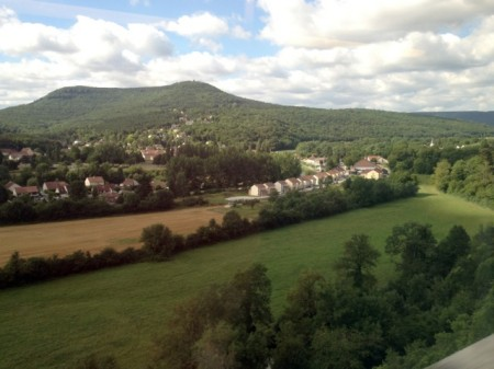 View from the TGV north of Dijon