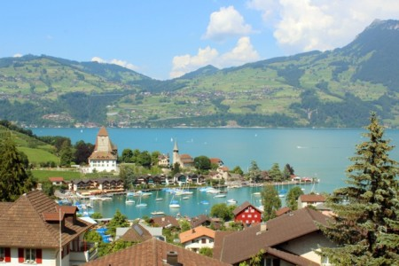Spiez, on lake Thunersee