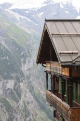 A house in Mürren with quite a view