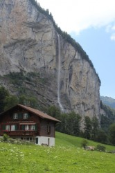 One of many falls above the Lauterbrunnen valley