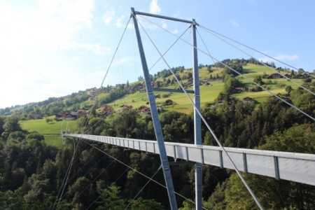 Pedestrian bridge above Gunten