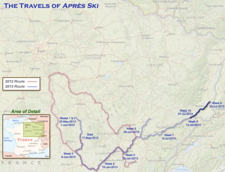 France 2013 - Week10 Route