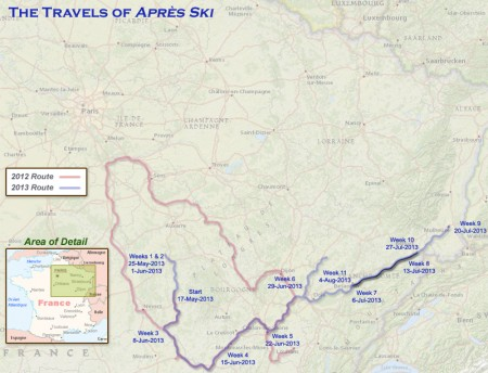 France 2013 - Week11 Route