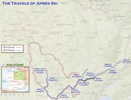 France 2013 - Week12 Route