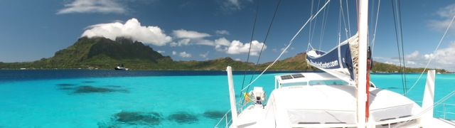Curie anchored off Bora Bora