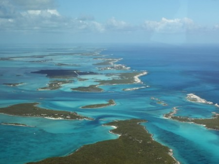 Islands just to the north of Staniel Cay