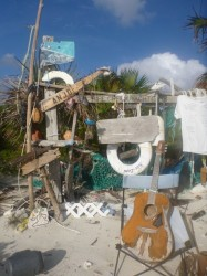 "The ""beach bar"" on Thomas Cay"