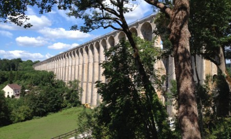 Chaumont's awesome railway viaduct