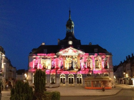 Chaumont city hall at dusk