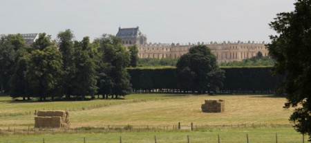Versailles seen from the on-site farm