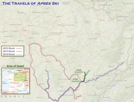 France 2014 - Week 0 Route