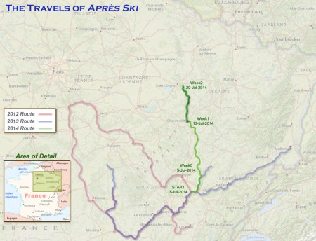 France 2014 - Week 2 Route