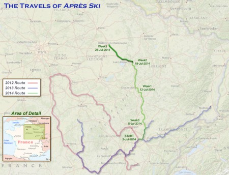 France 2014 - Week 3 Route