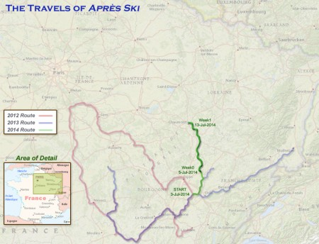 France 2014 – Week 1 Route
