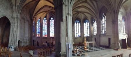 Twin choirs in the Saint-Nicolas church, Rethel