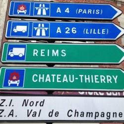 The A-26 to Lille is safe, but your car will blow up if you go to Chateau-Thierry or take the A-4 to Paris