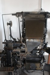 Linotype machine at Castellane museum