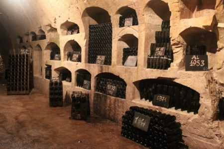 The private stash belonging to the owners of Champagne de Castellane
