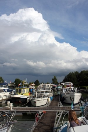 The canal port in Sillery