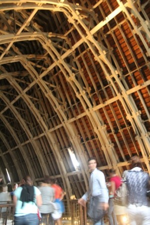Roof tour - in between the vaulted ceiling and the roof