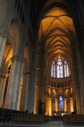 Inside the Reims Cathedral