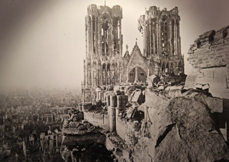 Reims Cathedral after WW I