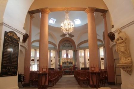 Inside is more like a Las Vegas wedding chapel