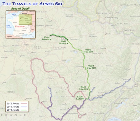 France 2014 - Week 4 Route