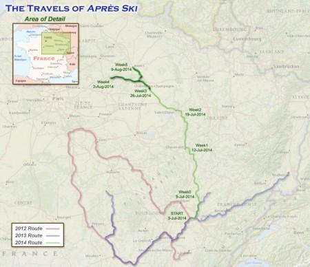 France 2014 - Week 5 Route